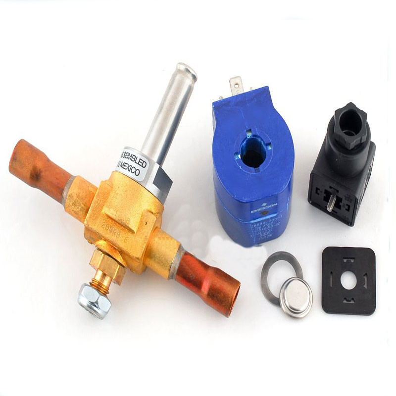 High Accuracy Cold Storage Parts , Hydraulic Solenoid Valve Brass Material Medium Temperature